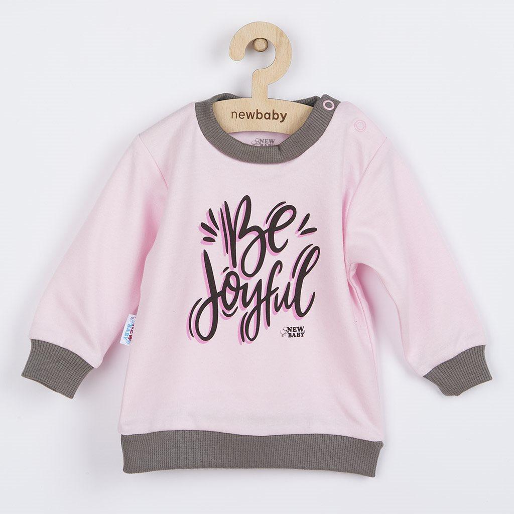 Dojčenské tričko New Baby With Love ružové