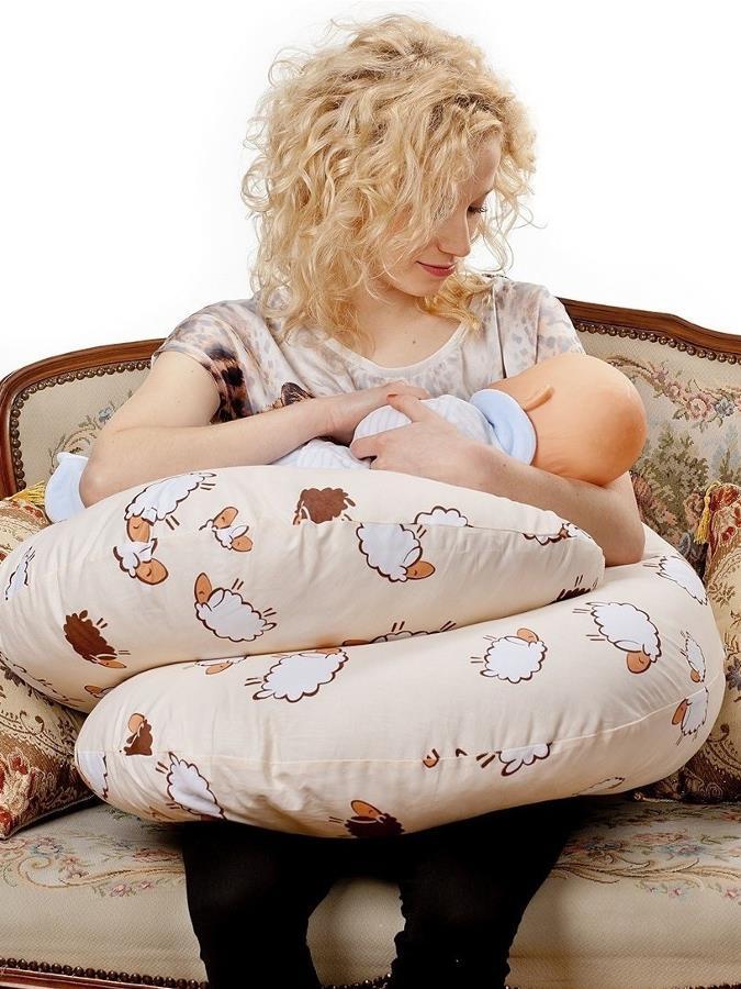 Univerzálny dojčiaci vankúš v tvare C New Baby Pierka ružové