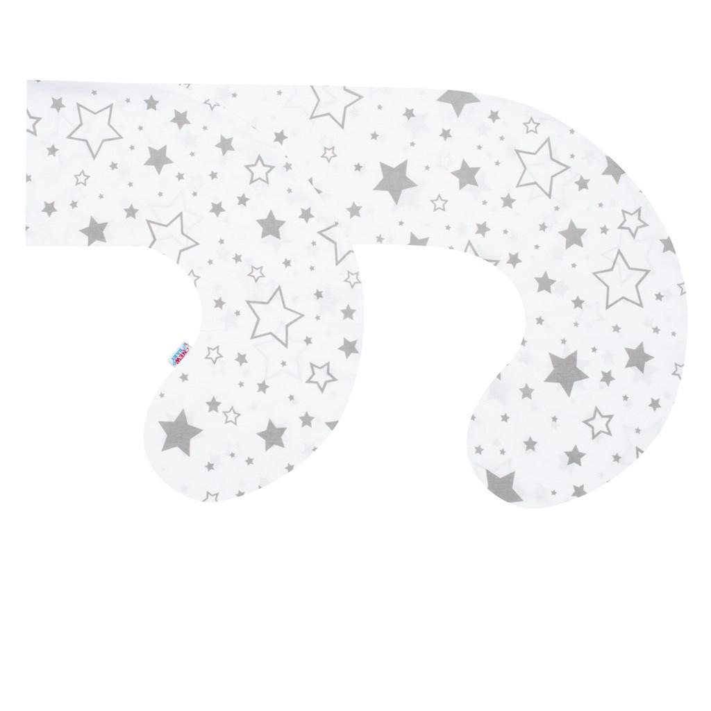 Obliečka na dojčiaci vankúš v tvare C New Baby Hviezdy sivé