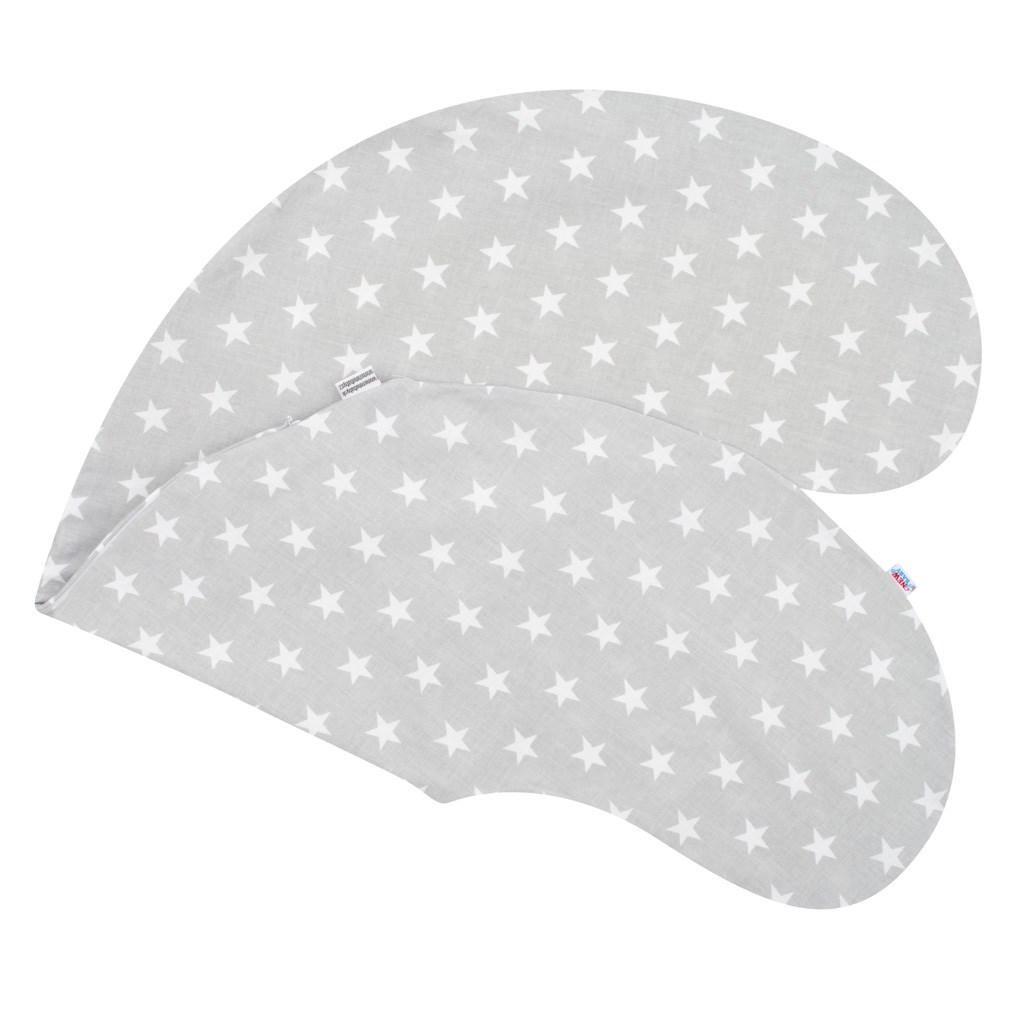 Obliečka na dojčiaci vankúš New Baby Hviezdičky sivý