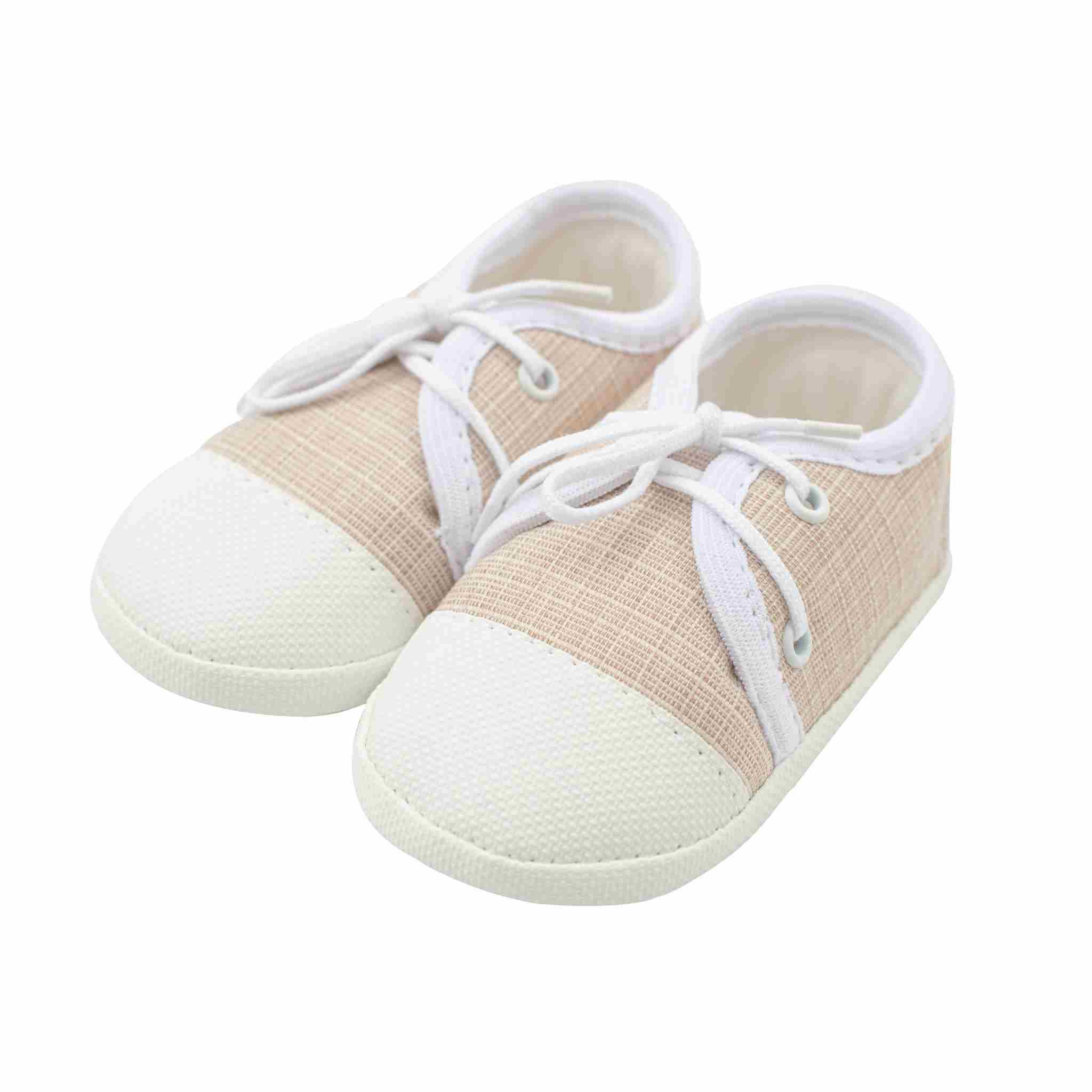 Dojčenské capačky tenisky New Baby jeans béžové 12-18 m