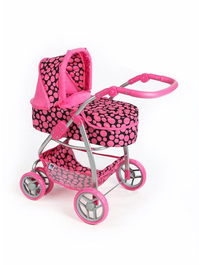 Multifunkčný kočík pre bábiky PlayTo Jasmínka ružový (poškodený obal)