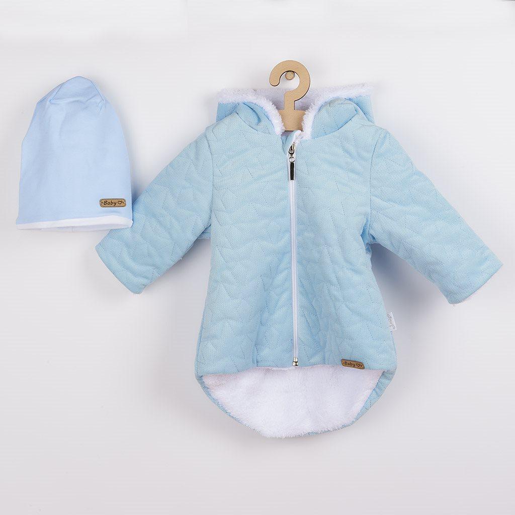Zimný dojčenský kabátik s čiapočkou Nicol Kids Winter modrý-56 (0-3m)