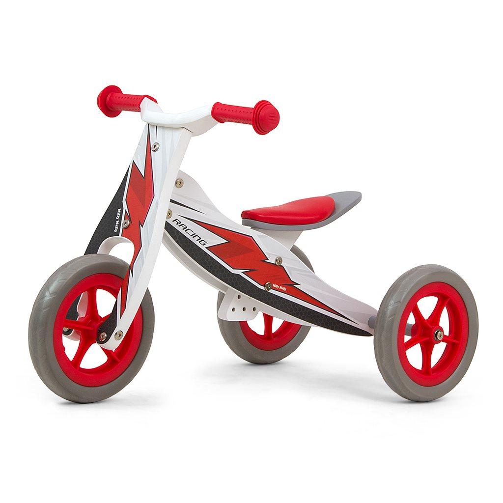 Detské multifunkčné odrážadlo 2v1 Milly Mally Look Racing, Červená