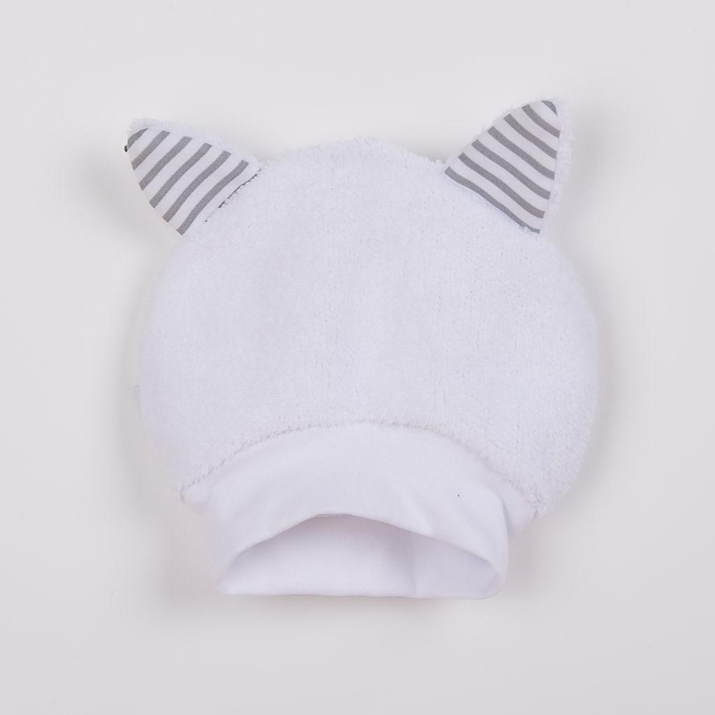 Luxusná detská zimná čiapočka s uškami New Baby Snowy collection