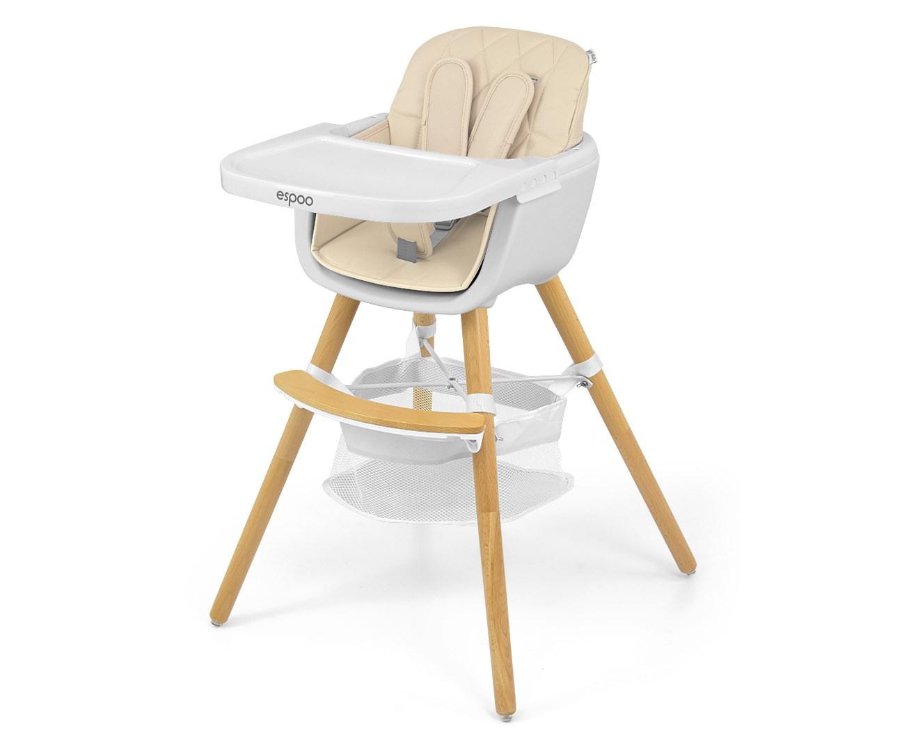 Jedálenská stolička Milly Mally 2v1 Espoo béžová