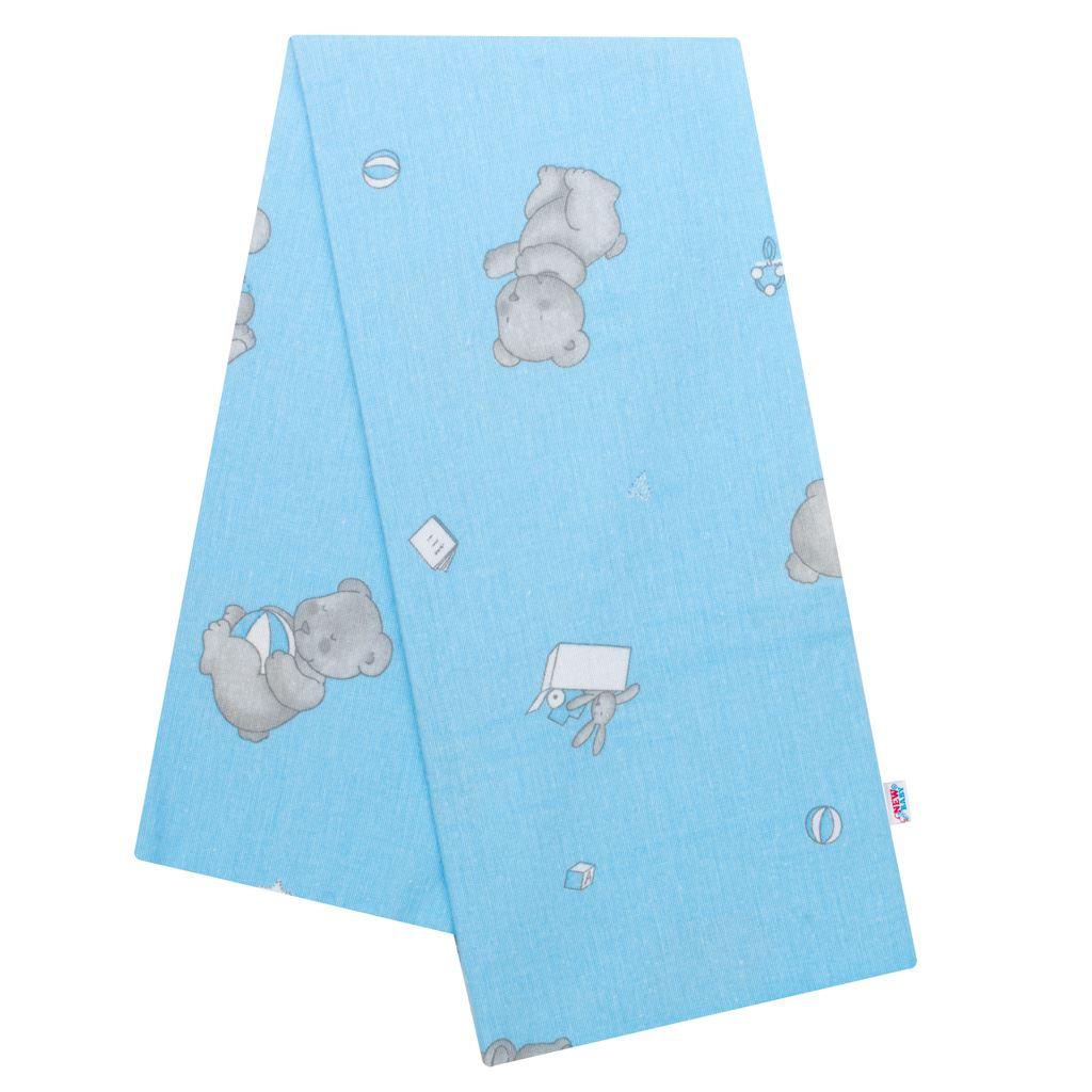 Flanelová plienka s potlačou New Baby modrá medvedíky