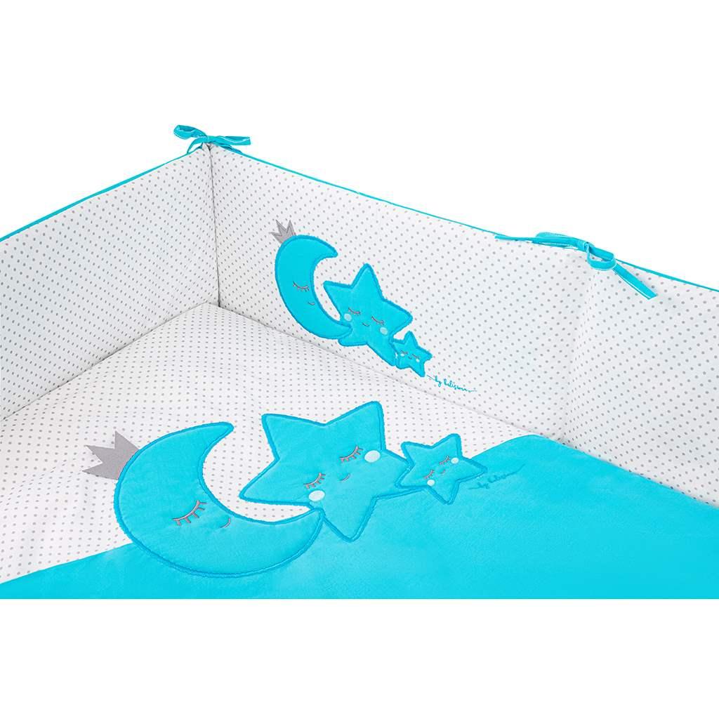 3-dielne posteľné obliečky Belisima Magic Stars 100/135 tyrkysové