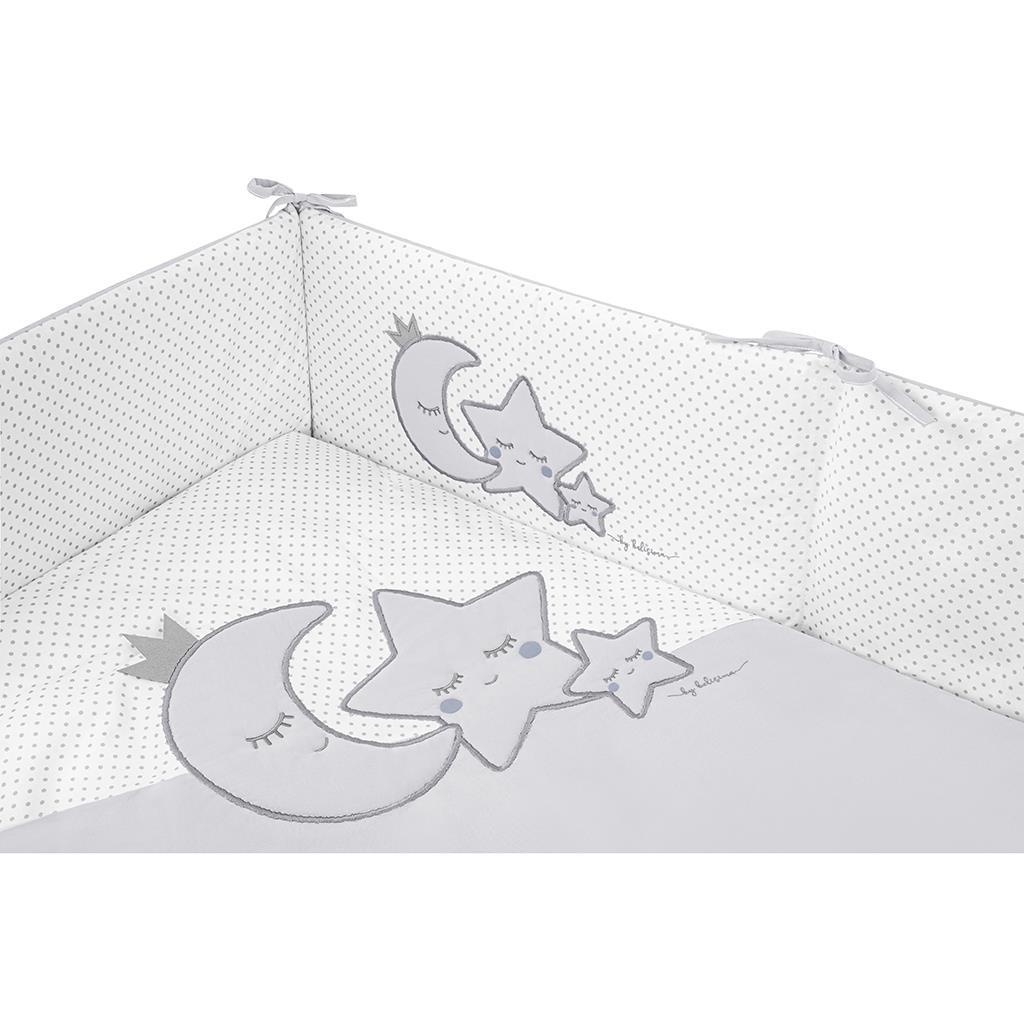 5-dielne posteľné obliečky Belisima Magic Stars 100/135 sivé