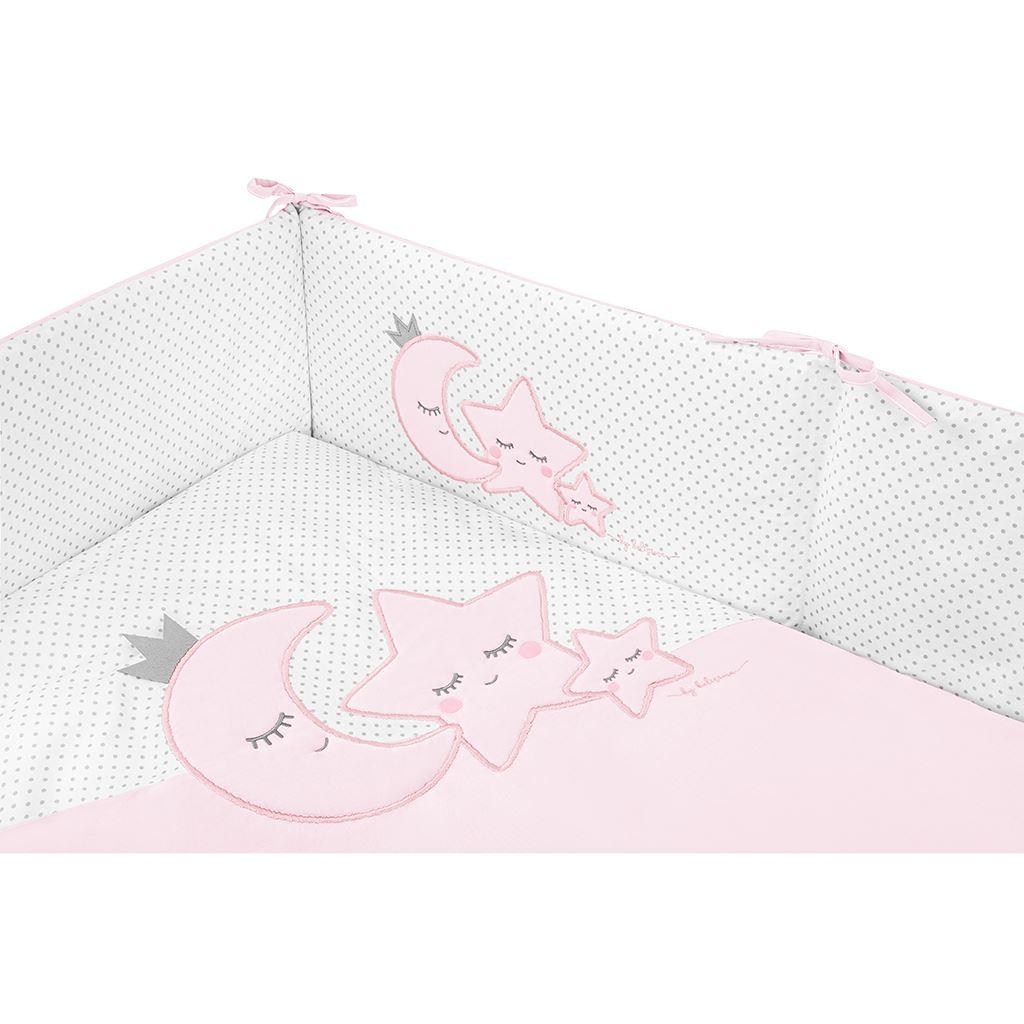 5-dielne posteľné obliečky Belisima  Magic Stars 90/120 ružové
