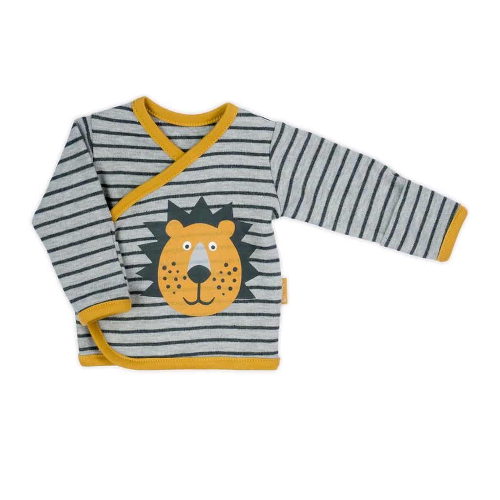 Dojčenská bavlnená košieľka Nicol Prince Lion-62 (3-6m)