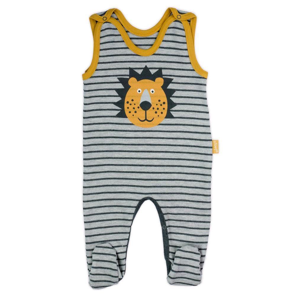 Dojčenské bavlnené dupačky Nicol Prince Lion-68 (4-6m)