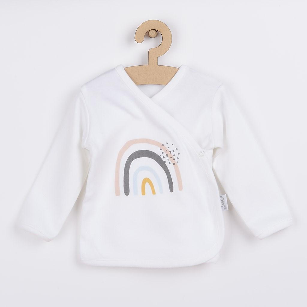 Dojčenská bavlněná košilka Nicol Rainbow-68 (4-6m)