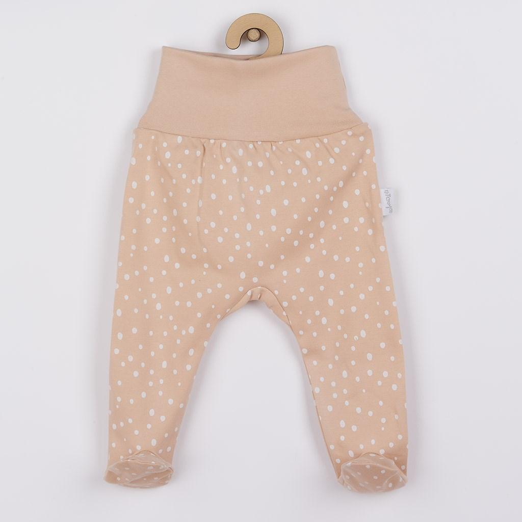 Dojčenské bavlnené polodupačky Nicol Rainbow ružové-74 (6-9m)