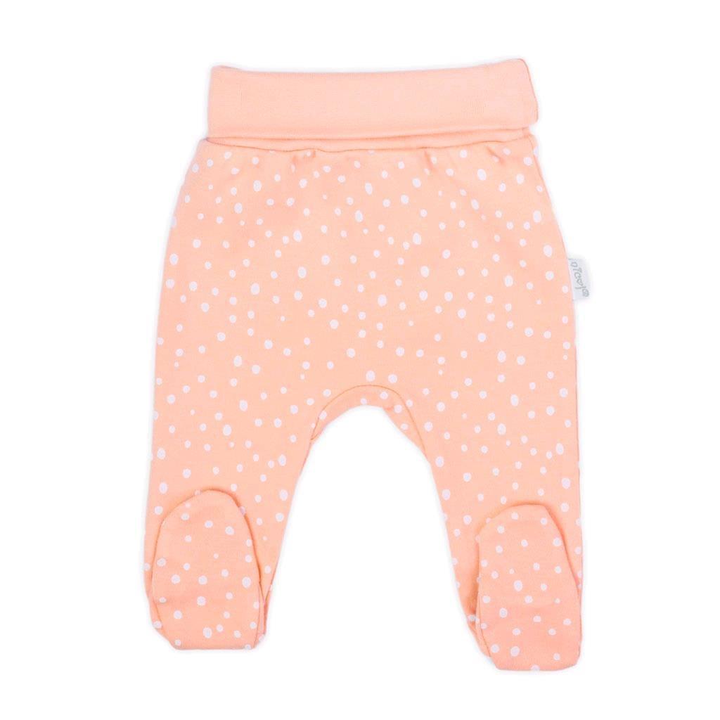 Dojčenské bavlnené polodupačky Nicol Rainbow ružové-86 (12-18m)