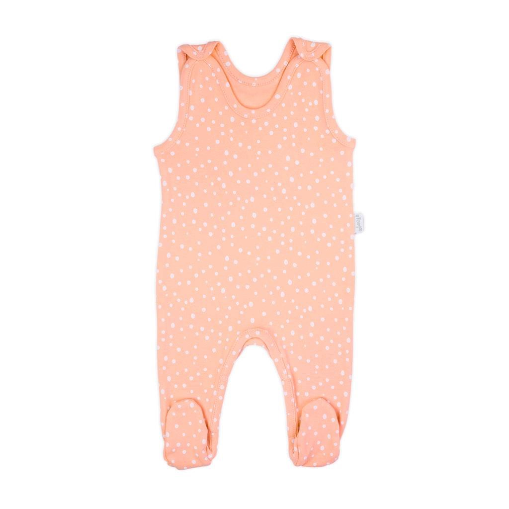 Dojčenské bavlnené dupačky Nicol Rainbow ružové-62 (3-6m)