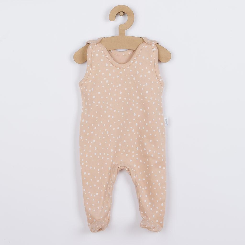 Dojčenské bavlnené dupačky Nicol Rainbow ružové-68 (4-6m)