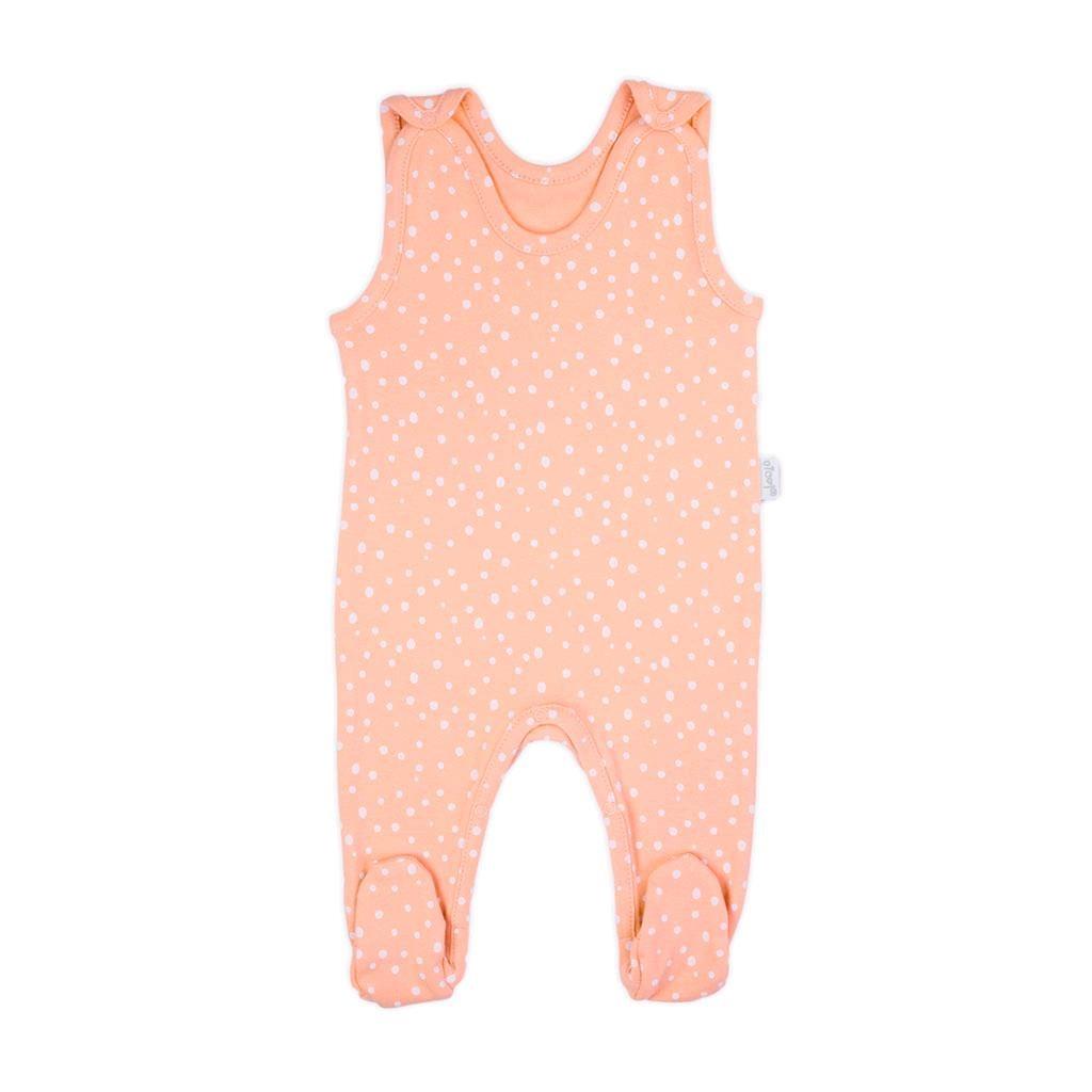 Dojčenské bavlnené dupačky Nicol Rainbow ružové-74 (6-9m)
