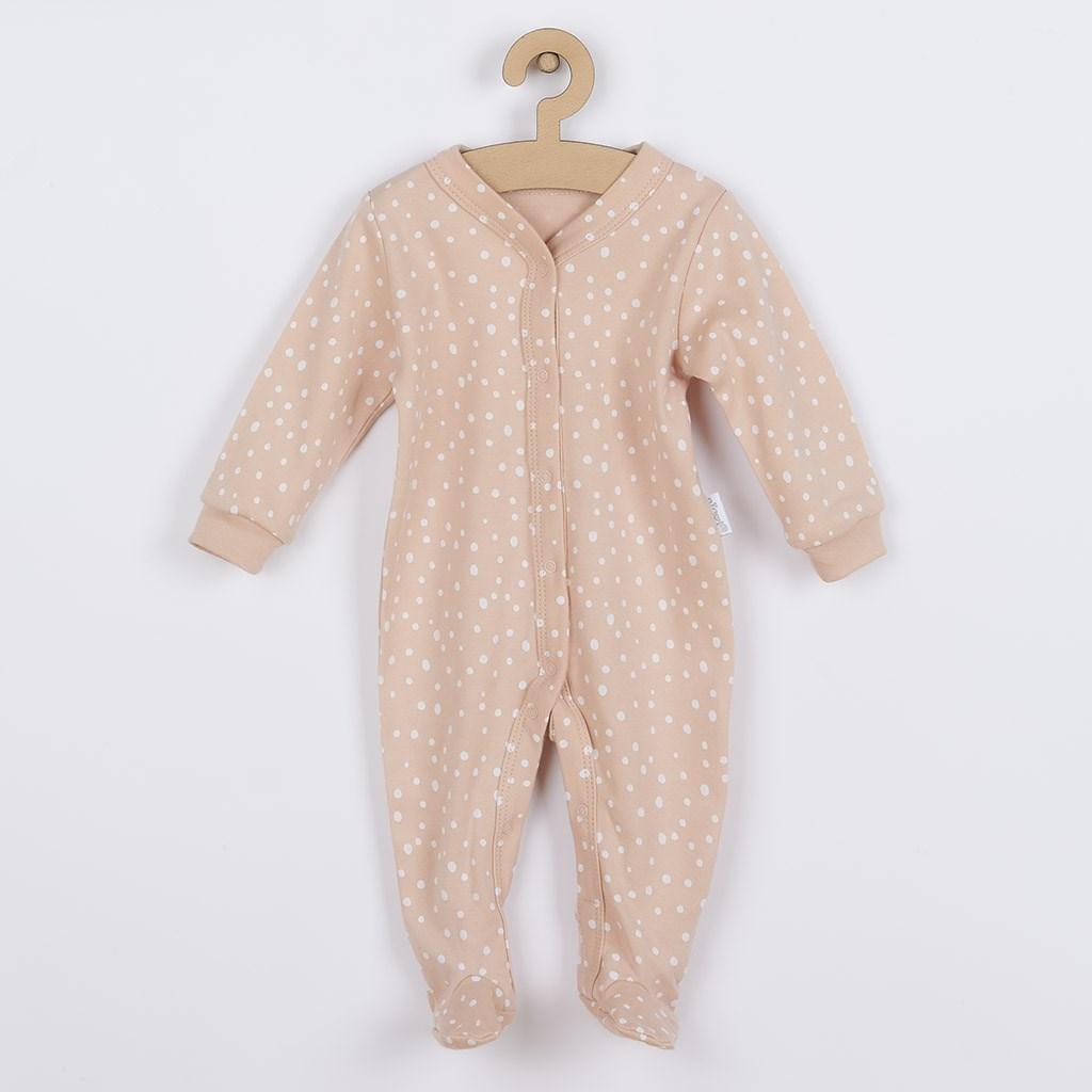Dojčenský bavlnený overal Nicol Rainbow ružový 62 (3-6m)