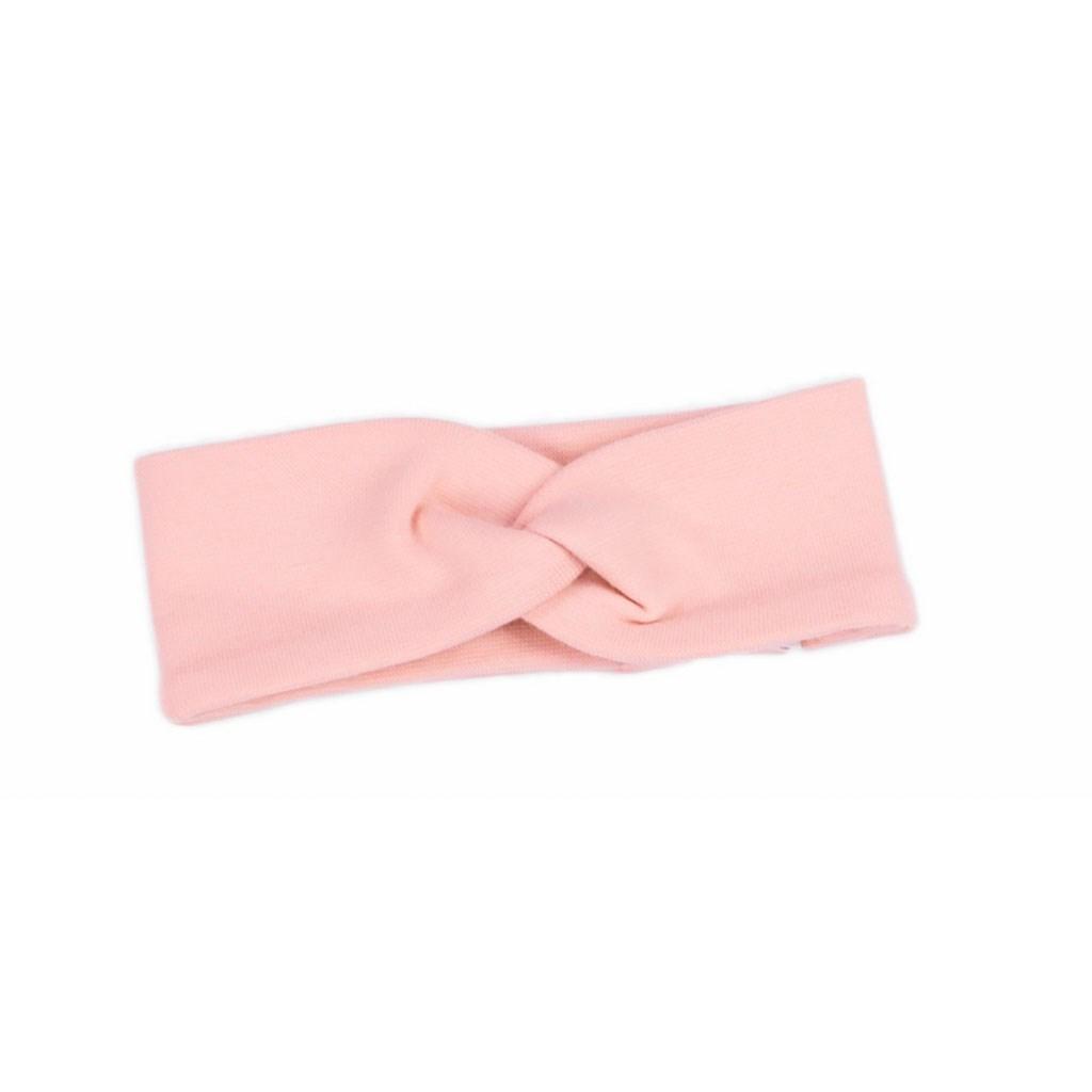 Dojčenská bavlnená čelenka  Nicol Rainbow ružová