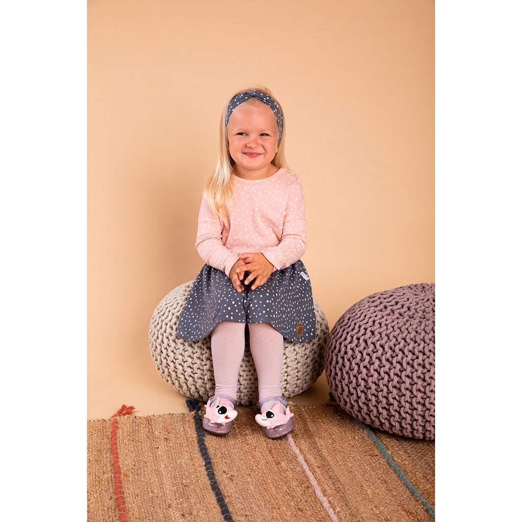 Dojčenská bavlnená suknička Nicol Rainbow sivá 56 (0-3m)