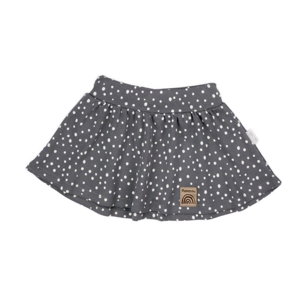 Dojčenská bavlnená suknička Nicol Rainbow sivá-80 (9-12m)