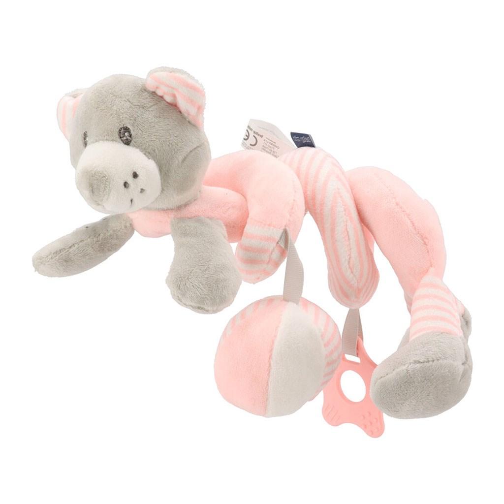 Hračka na postieľku Špirála Baby Mix medveď rúžový
