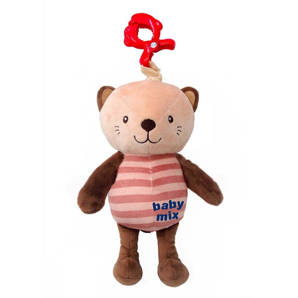Detská plyšová hračka s hracím strojčekom Baby Mix Mačka