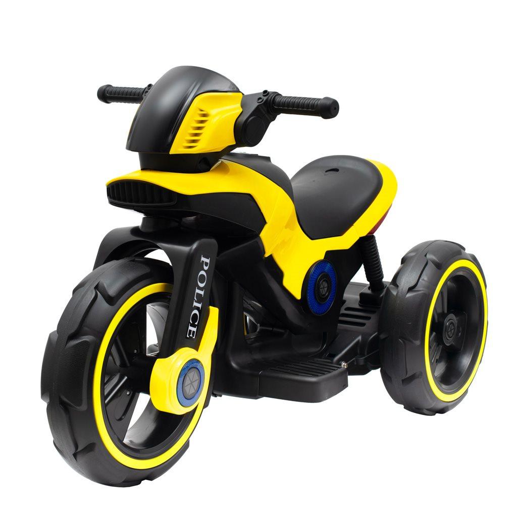 Detská elektrická motorka Baby Mix POLICE žltá