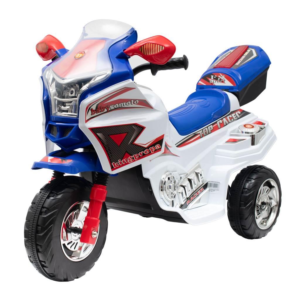 Detská elektrická motorka Baby Mix RACER biela
