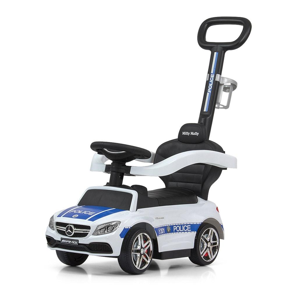Detské odrážadlo s vodiacou tyčou Mercedes Benz AMG C63 Coupe Milly Mally Police