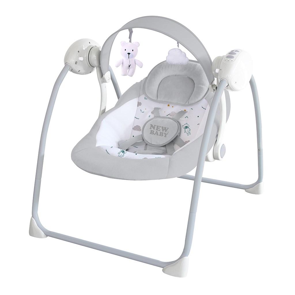 Detské hojdacie lehátko NEW BABY TEDDY Gray (poškodený obal)