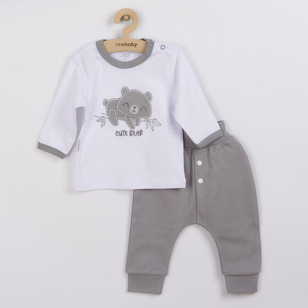 2-dielna dojčenská bavlnená súpravička New Baby Cute Bear 74 (6-9m)