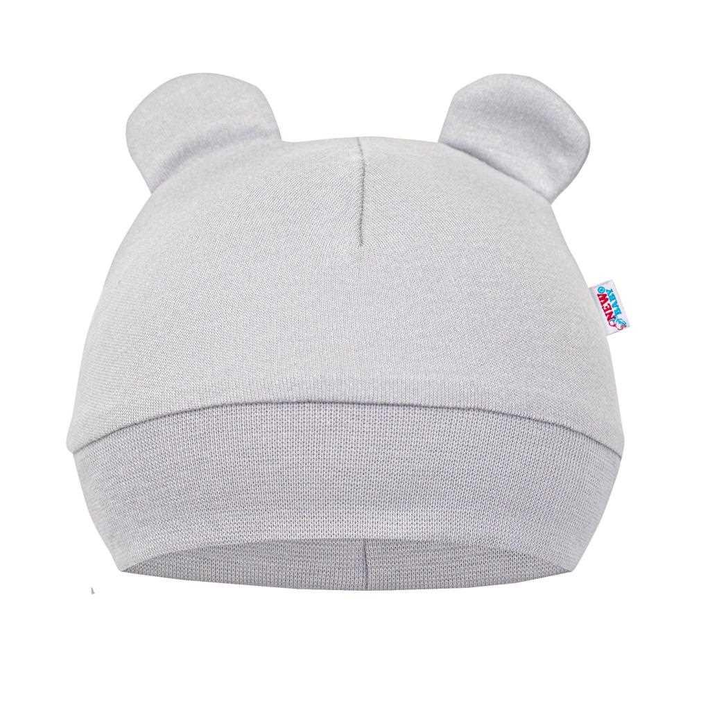 Dojčenská bavlnená čiapočka New Baby Cute Bear 62 (3-6m)