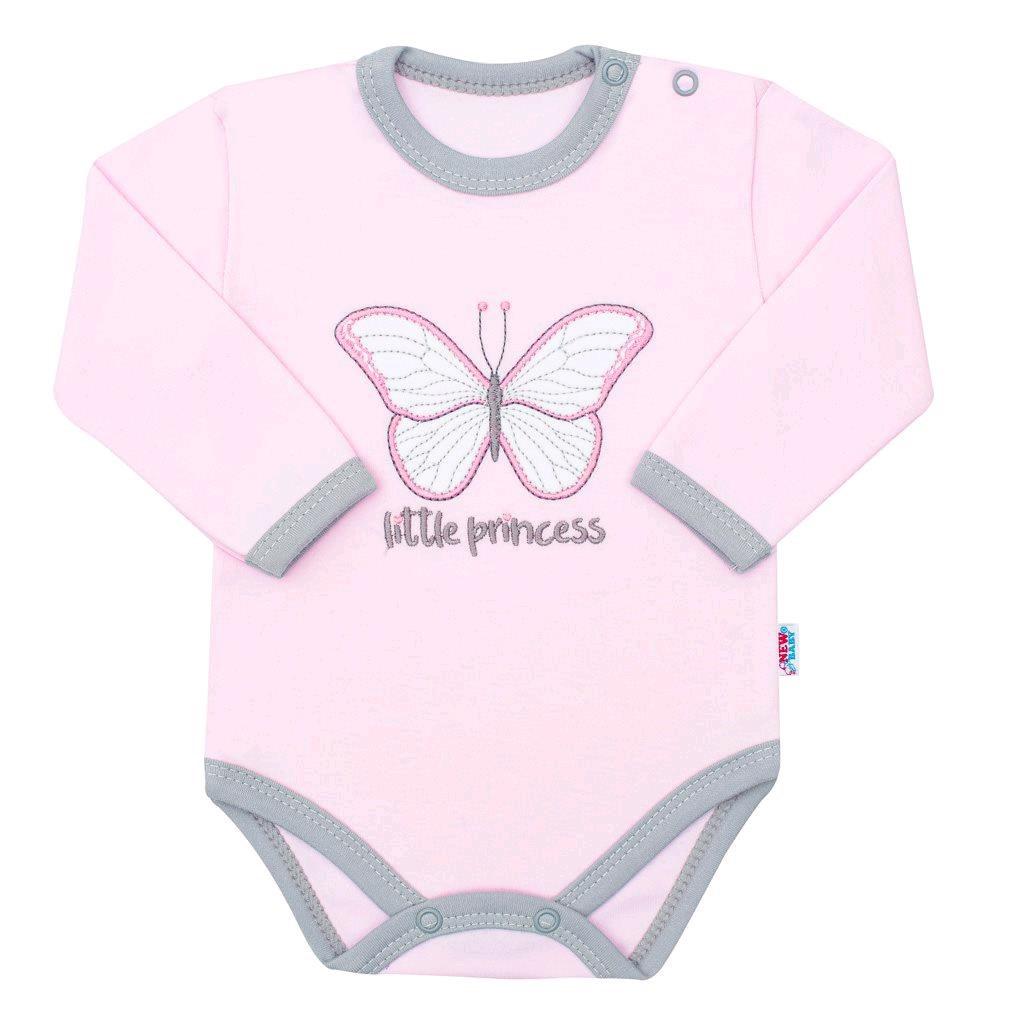 Dojčenské bavlnené body s dlhým rukávom New Baby Little Princess
