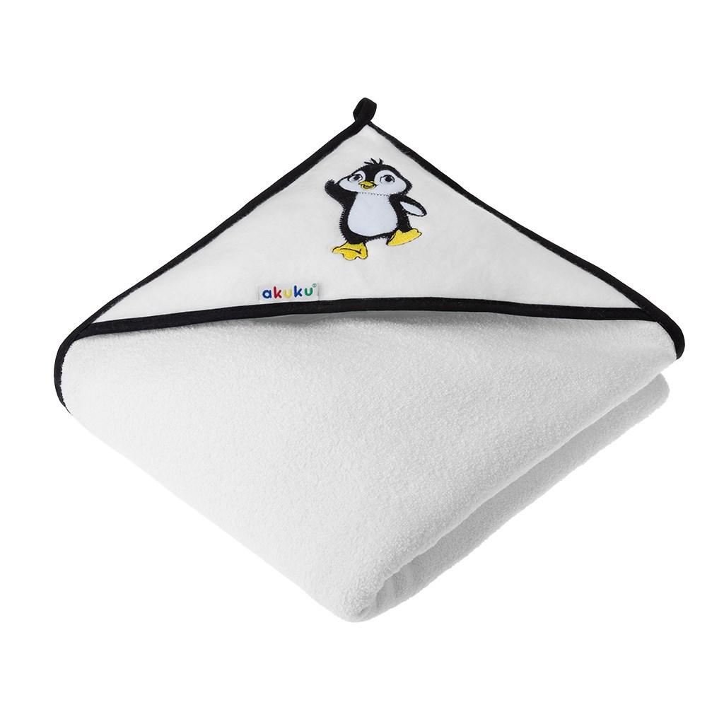 Detská osuška 100x100 Akuku biela s tučniakom