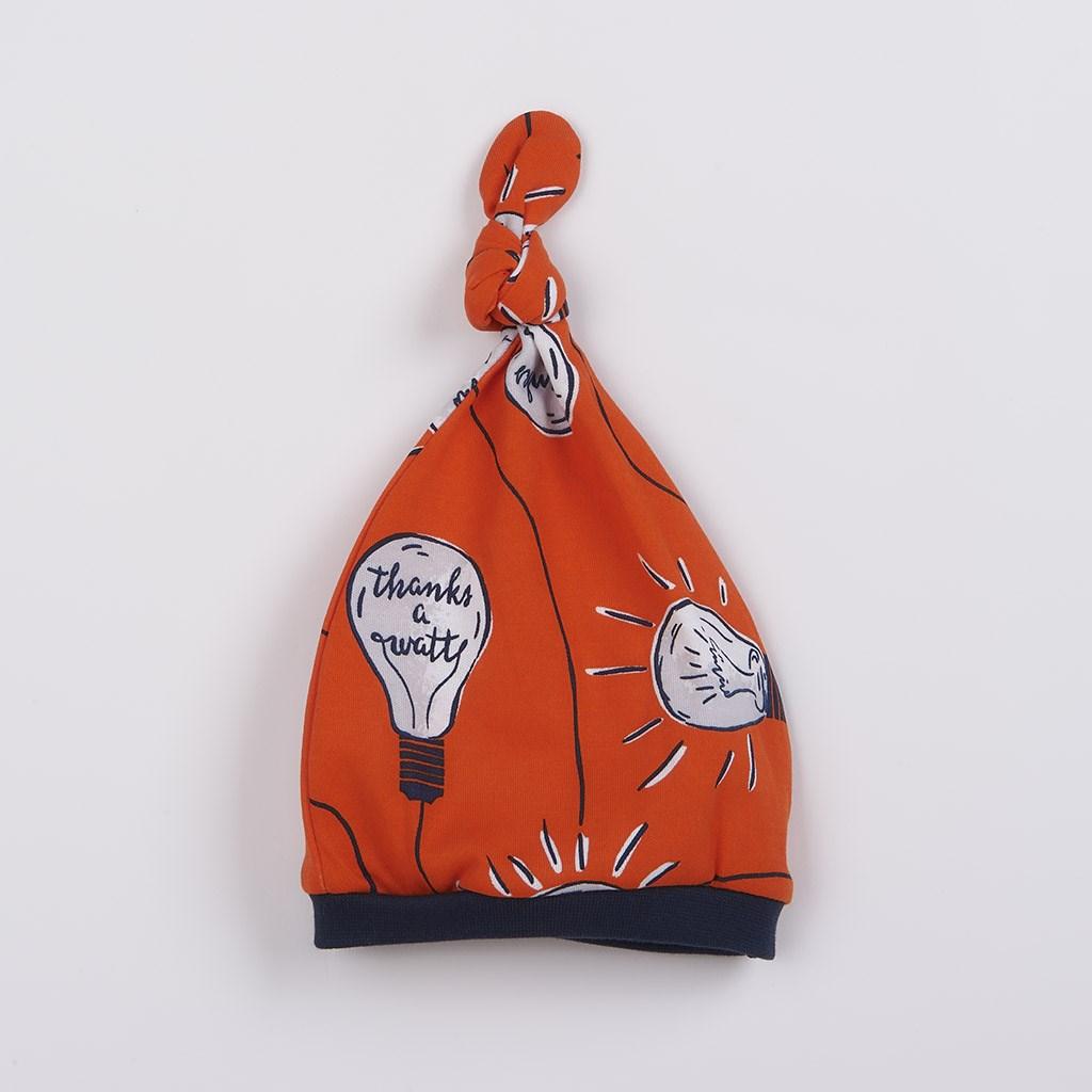 Dojčenská bavlnená čiapočka New Baby Happy Bulbs