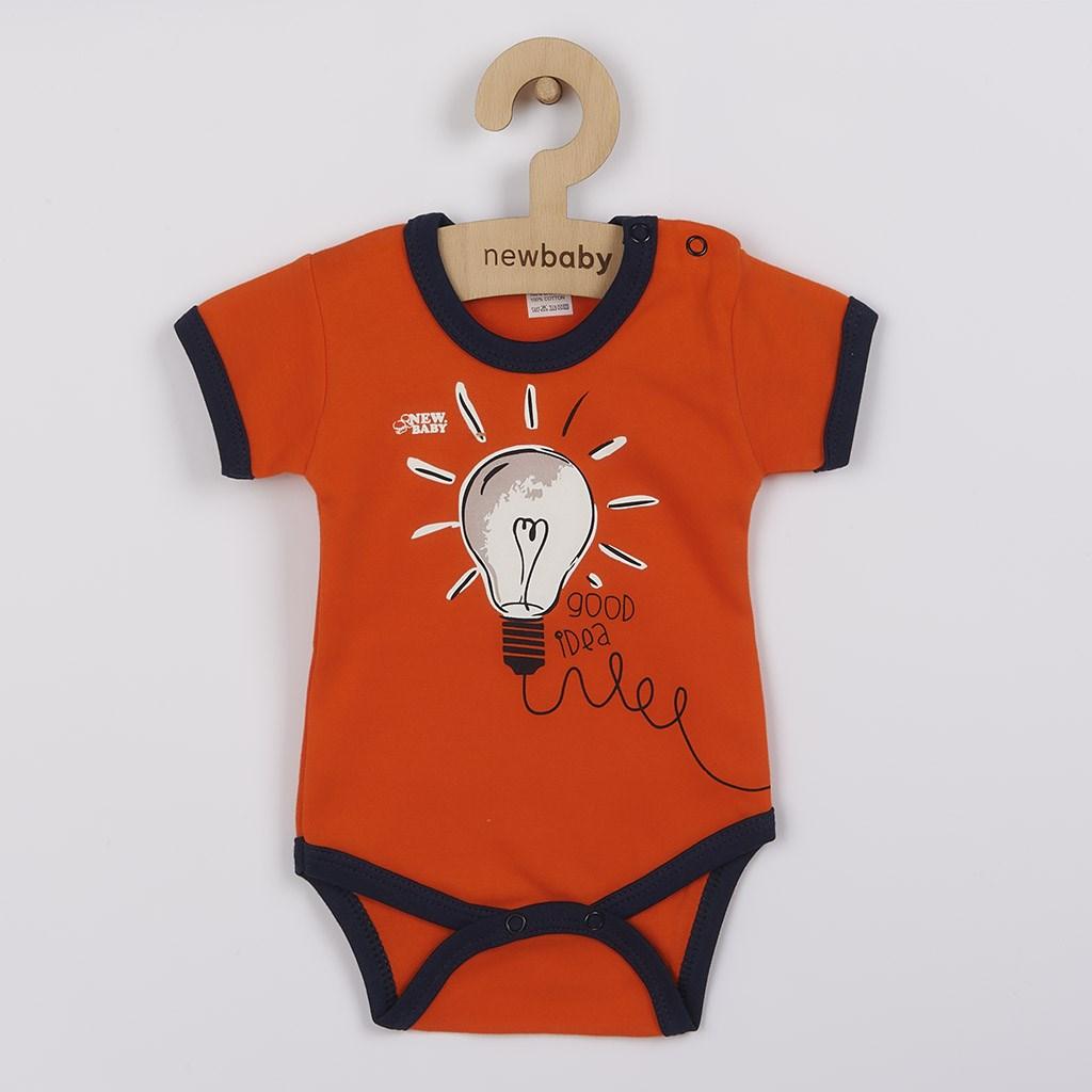 Dojčenské bavlnené body s krátkym rukávom New Baby Happy Bulbs