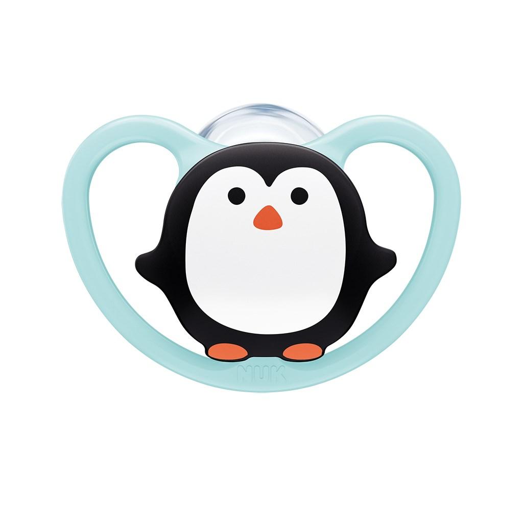 Cumlík Space NUK 6-18m penguin BOX