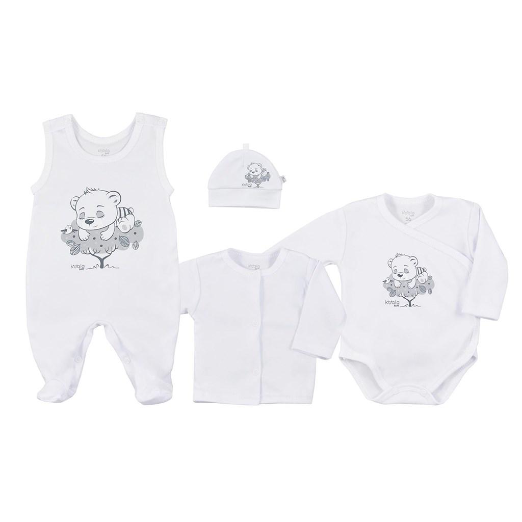 4-dielna dojčenská súprava Koala Sleeping Bear biela-56 (0-3m)
