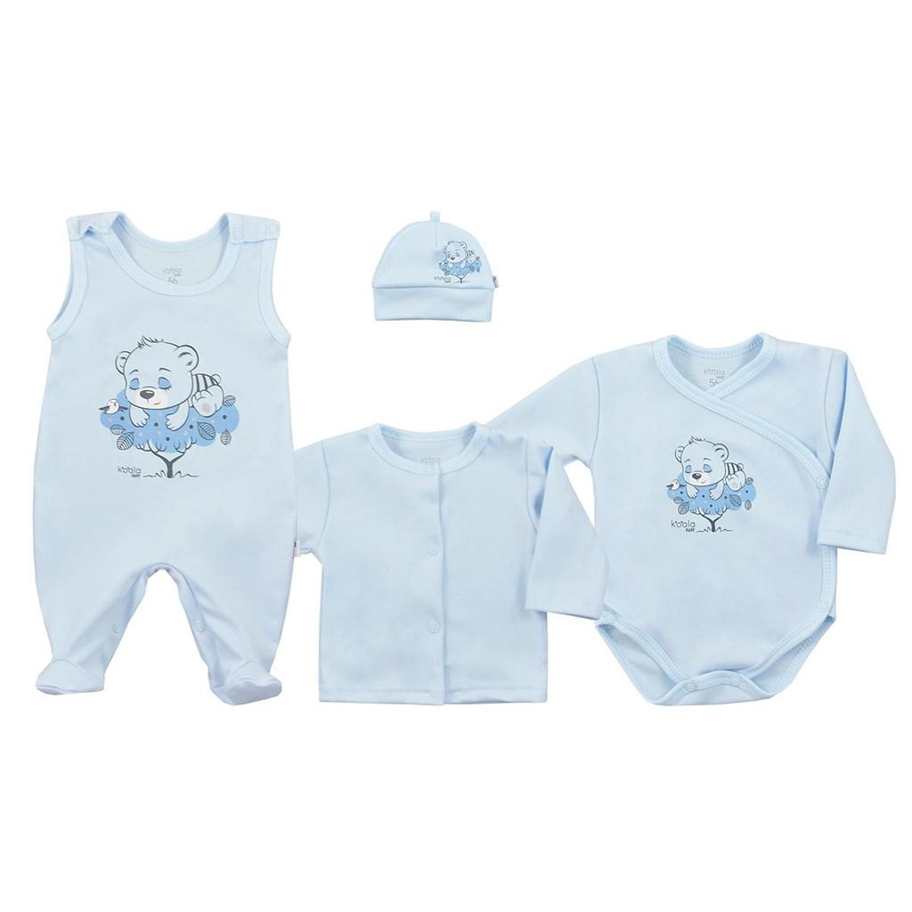 4-dielna dojčenská súprava Koala Sleeping Bear modrá-56 (0-3m)