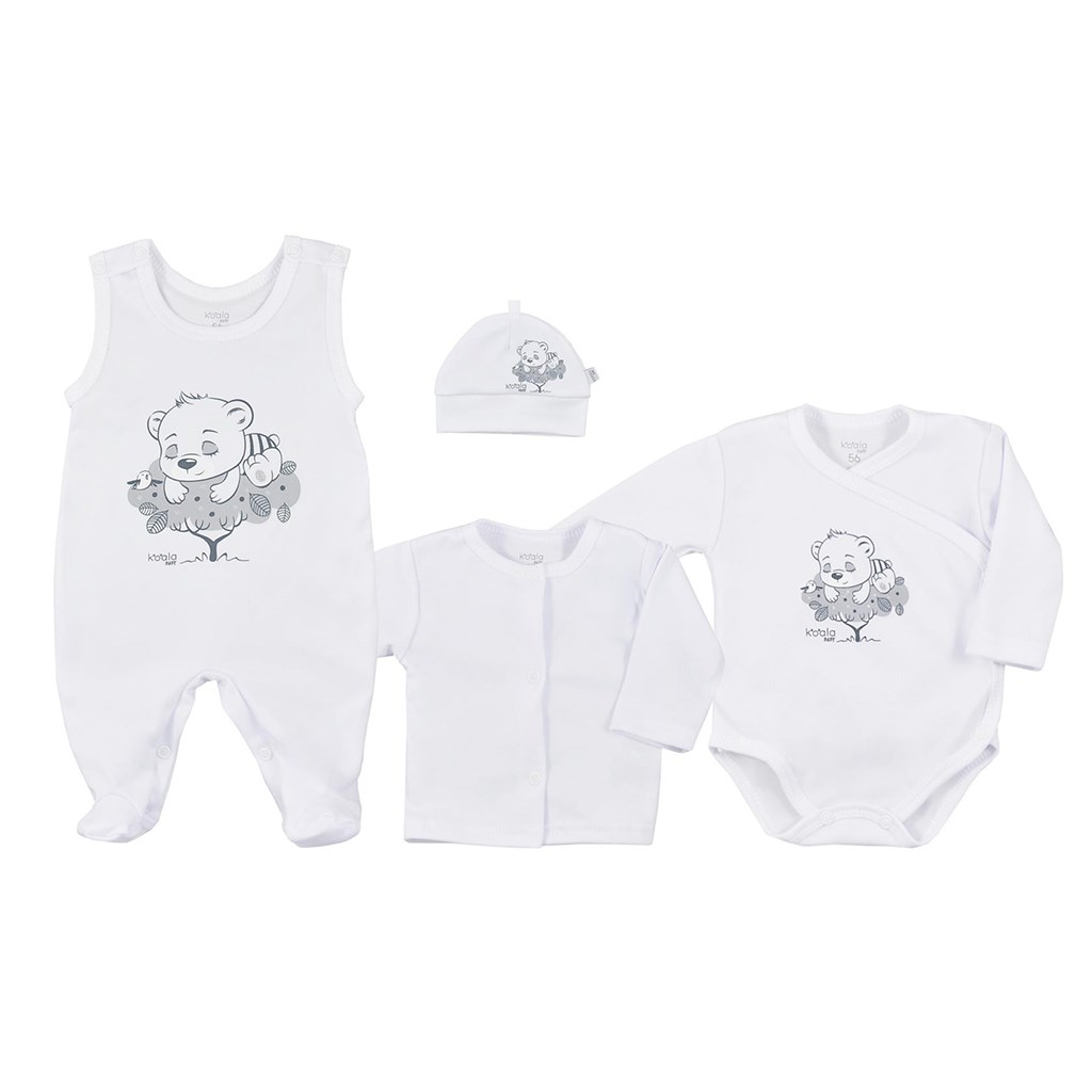 4-dielna dojčenská súprava Koala Sleeping Bear biela 62 (3-6m)