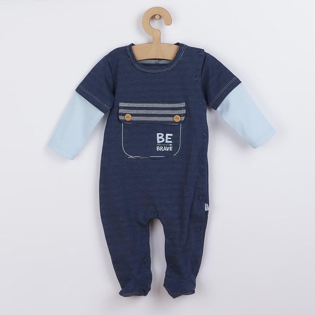 Dojčenský bavlnený overal Koala BE BRAVE modrý