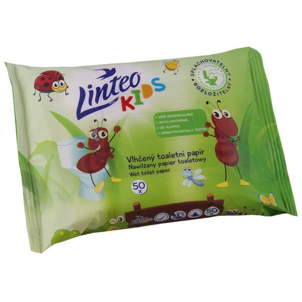 Dětský vlhčený toaletný papier Linteo KIDS 50ks