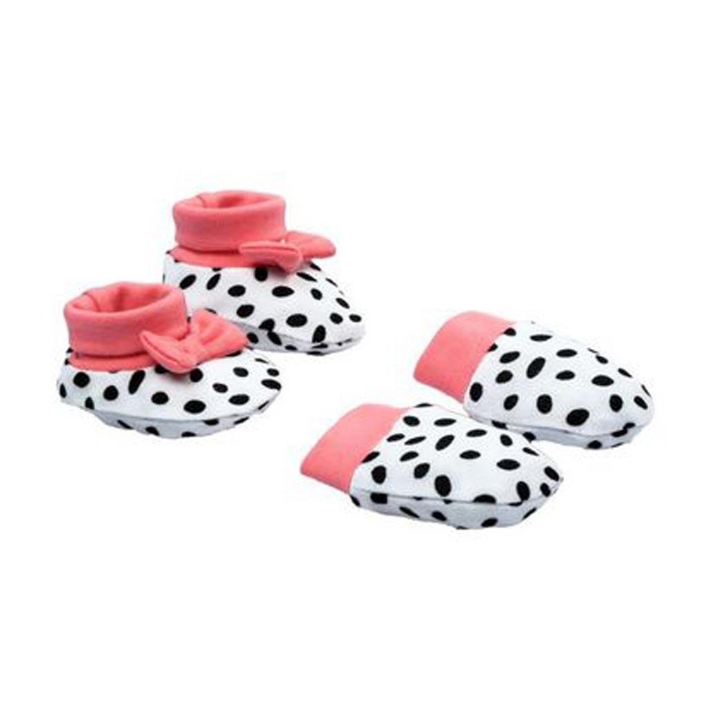 Dojčenský bavlnený set-capačky a rukavičky Nicol Alice