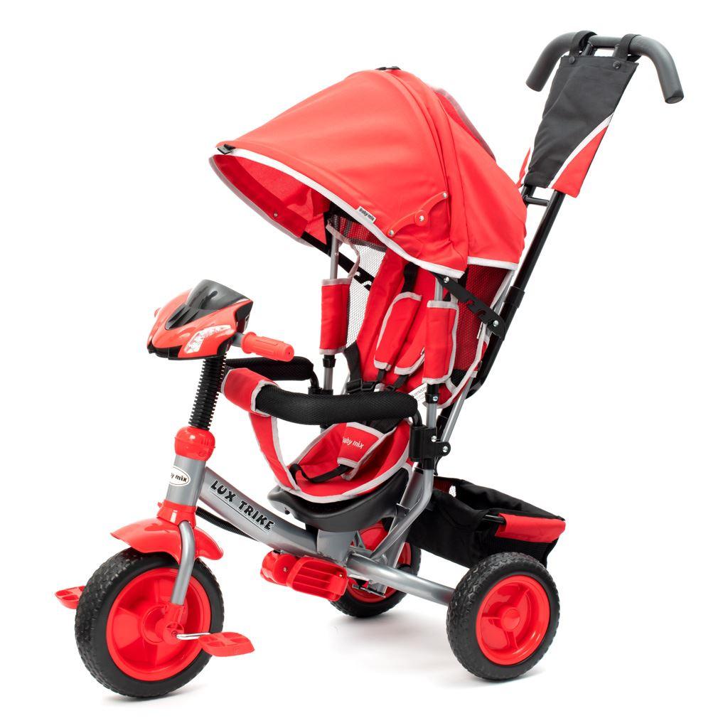 Detská trojkolka so svetlami Baby Mix Lux Trike červená