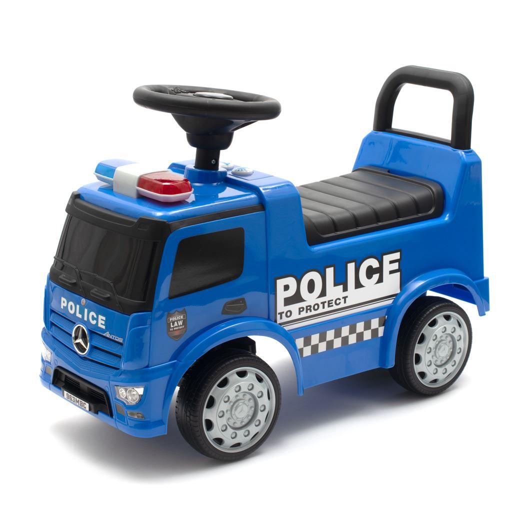 Detské odrážadlo so zvukom Mercedes Baby Mix POLICE modré