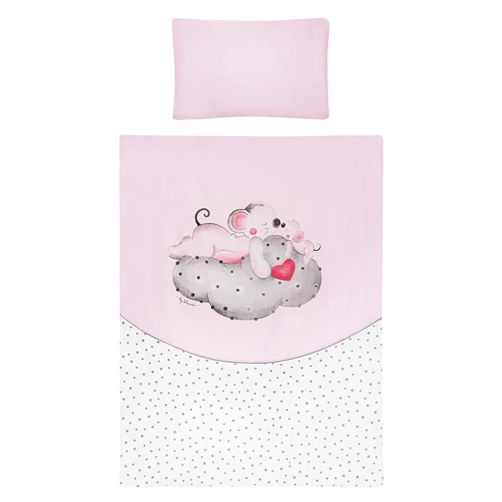 3-dielne posteľné obliečky Belisima LOVE 100/135 ružové