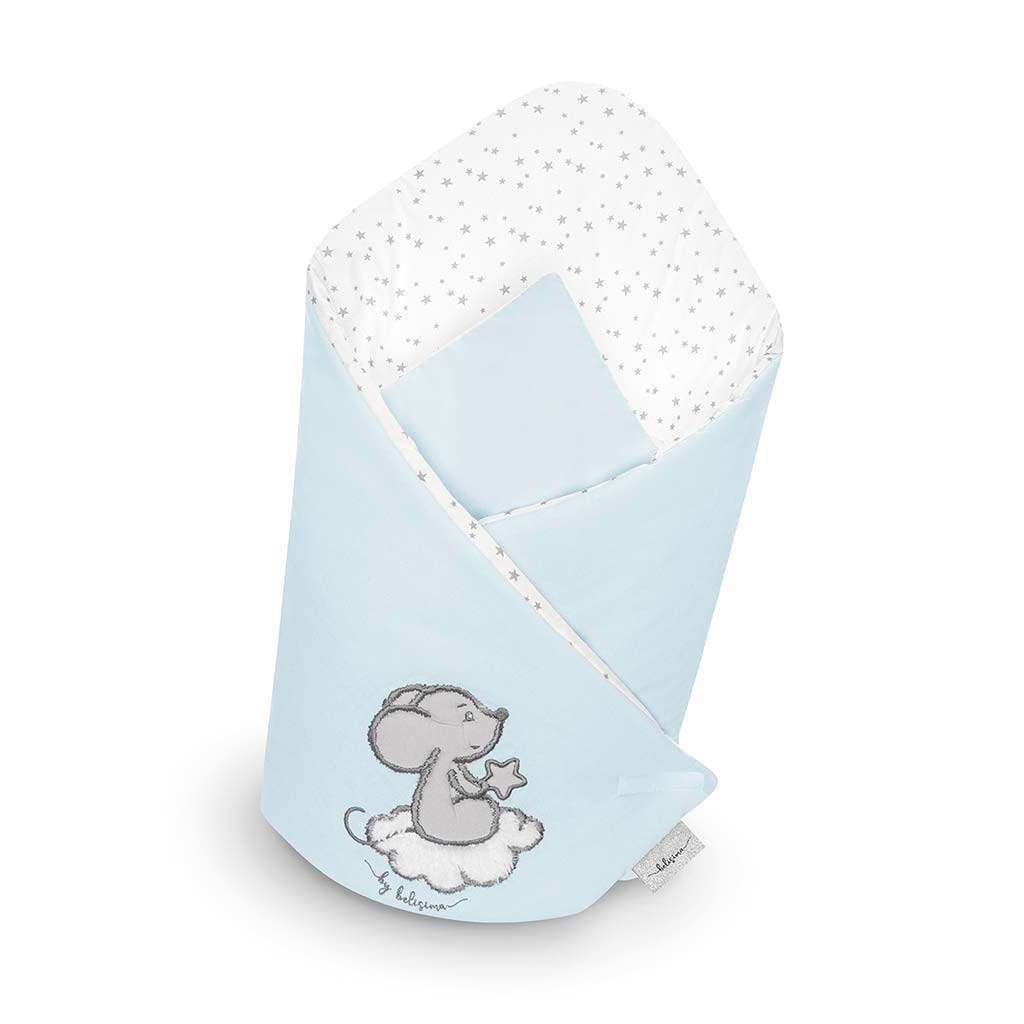 Zavinovačka s výstužou Belisima Cute Mouse tyrkysová