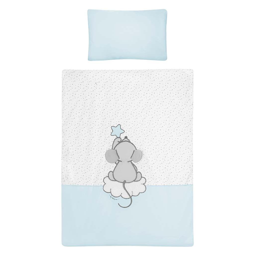 2-dielne posteľné obliečky Belisima Cute Mouse 100/135 tyrkysové